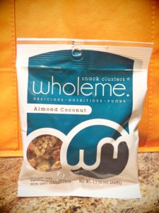 whole me, snack clusters, almond, coconut paleo