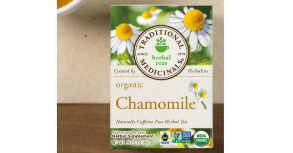 chamomile, traditional medicinals, tea, gluten free, dairy free