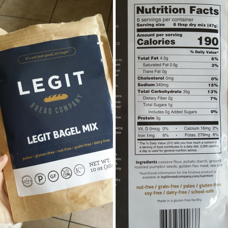 legit bagel mix, paleo bagel