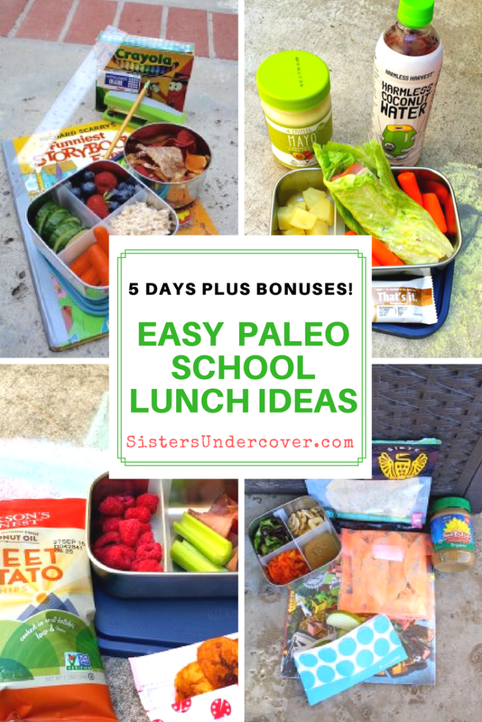 A full school week plus bonuses Paleo Lunches for Back To School