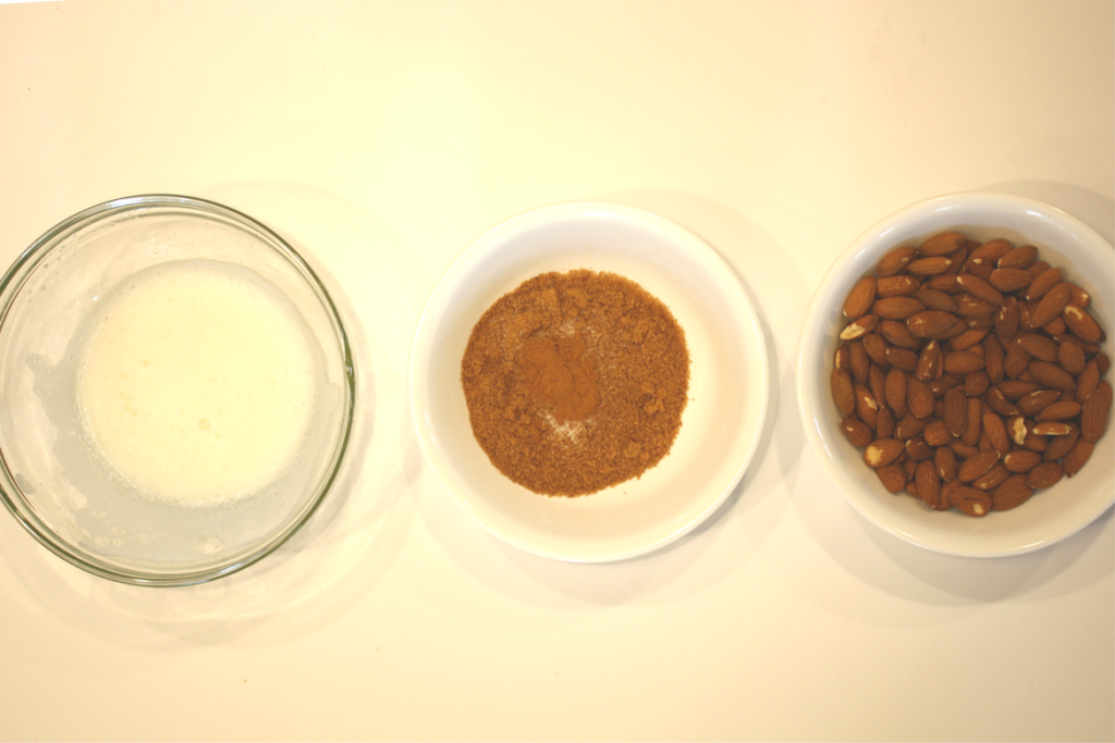 Ingredients for Paleo Sweet and Salty Cinnamon Almonds