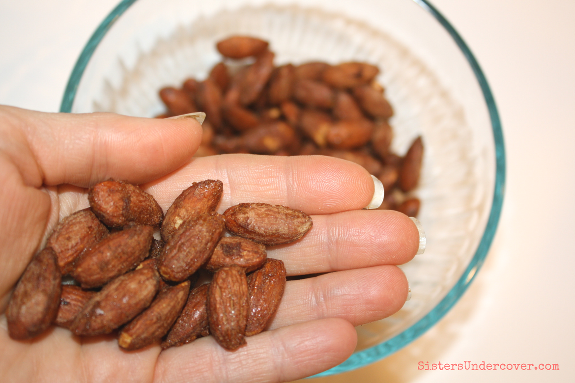 Sweet and Salty Cinnamon Almonds